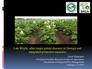 Late light, other major potato diseases in Georgia and integrated protection measures.