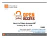 Launch of Open Access at CIP